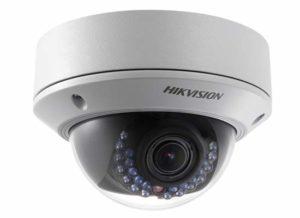 HIKVISION 3MP IP-Dome-Kamera Außen, Objektiv: 2.8-12mm. IR: 20m