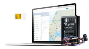 GPS-Tracker für PKWs + OBD2 Kabelbaum, inkl. SIM-Karte Abo + Flottenmanagement-Plattform Abonnement für 12 Monate