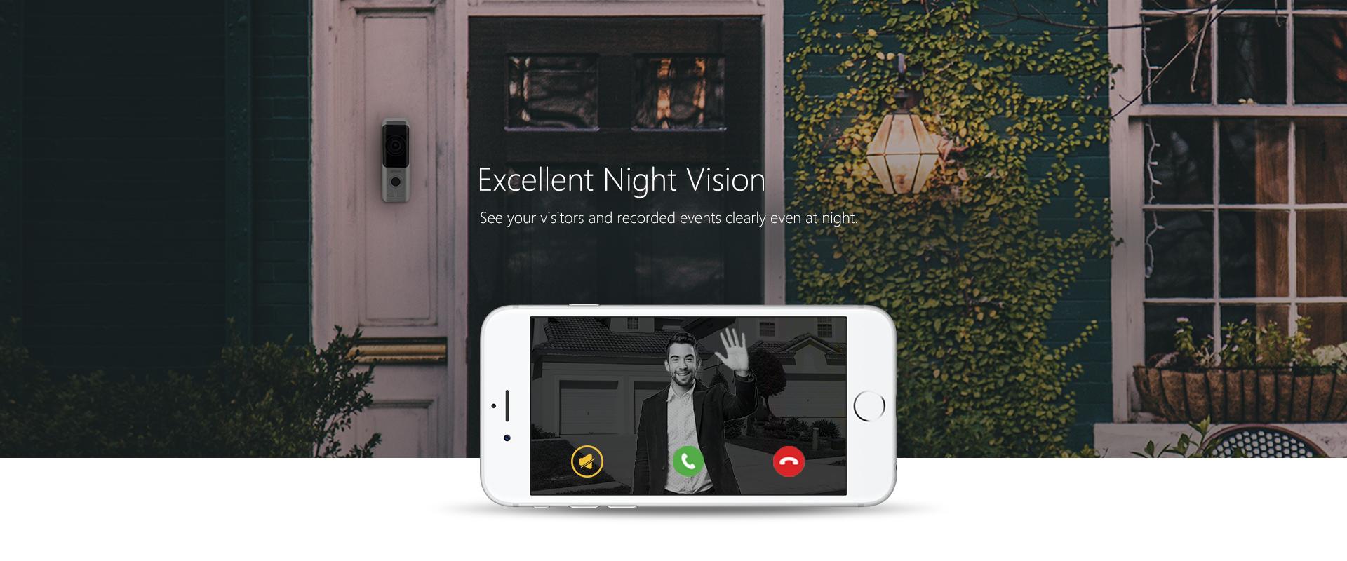 Funk-Video-Tuersprechanlage-Installation-fuer-Ihr-Haus-oder-Firma-IP-Tuerklingel-mit-2MP-Kamera-Wi-Fi-und-Batteriebetrieb-Ausgezeichnete-Nachtsicht
