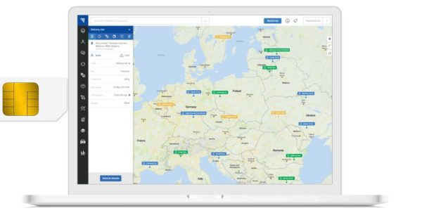SIM-Karte Abo und TrustTrack Flottenmanagement-Plattform Abonnement für 12 Monate